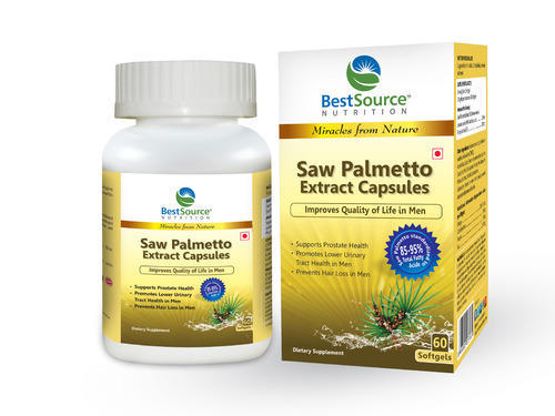Saw Palmetto Extract Oil Softgel Capsules